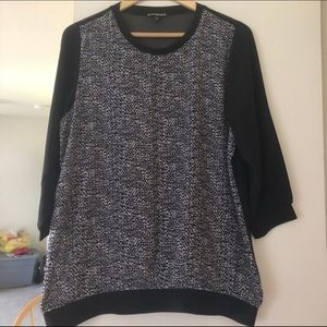 🌼Blouse Sale🌼 Black Grey Printed Blouse On Sale